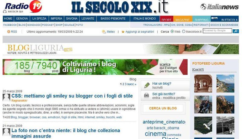 Blog di Liguria il Secolo XIX