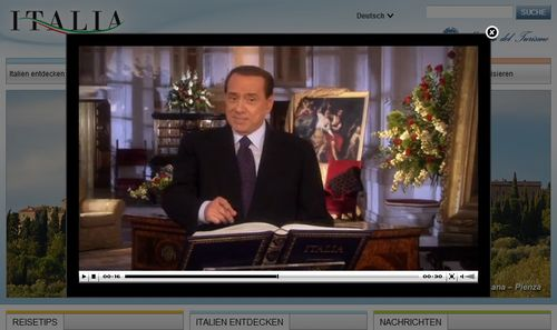 Spot berlusconi italia.it in tedesco