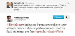 Twitter - scambio Vinai Doria